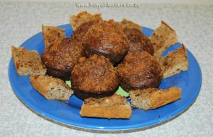 Tuna squares and Liver muffins